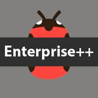 image of bug with enterprise++ written in center